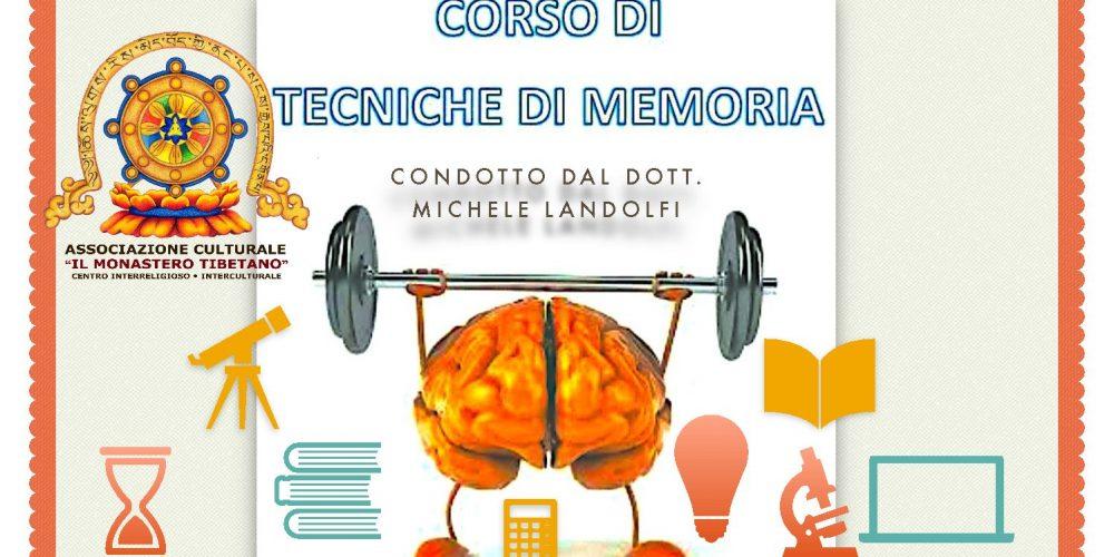 """""""CORSO di MNEMOTECNICA, LA TECNICA PER LA MEMORIZZAZIONE VELOCE"""" Condotto dal Dott. Michele Landolfi"""