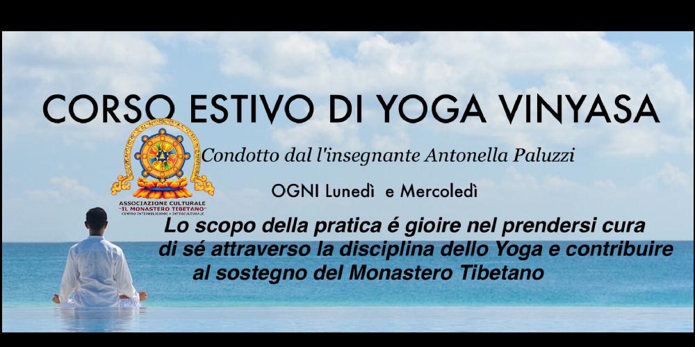 Corso Estivo Yoga Vinyasa docente Antonella Paluzzi