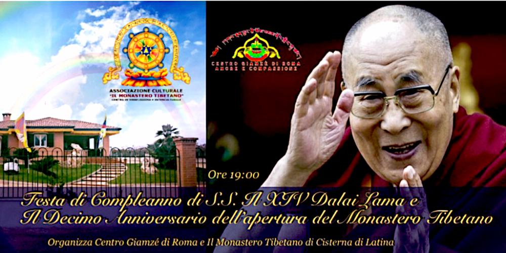 Festa di Compleanno di S.S. Il XIV Dalai Lama e Il Decimo Anniversario dell'apertura del Monastero Tibetano