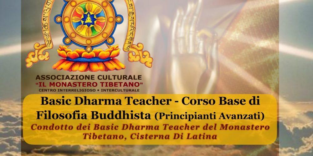 Basic Dharma Teacher – Corso Base di Filosofia Buddhista (principianti avanzati)