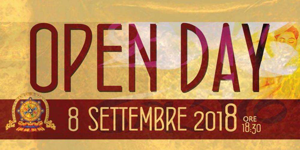 Sabato 08 Settembre 2018, OPEN DAY del MONASTERO TIBETANO di Cisterna di Latina.