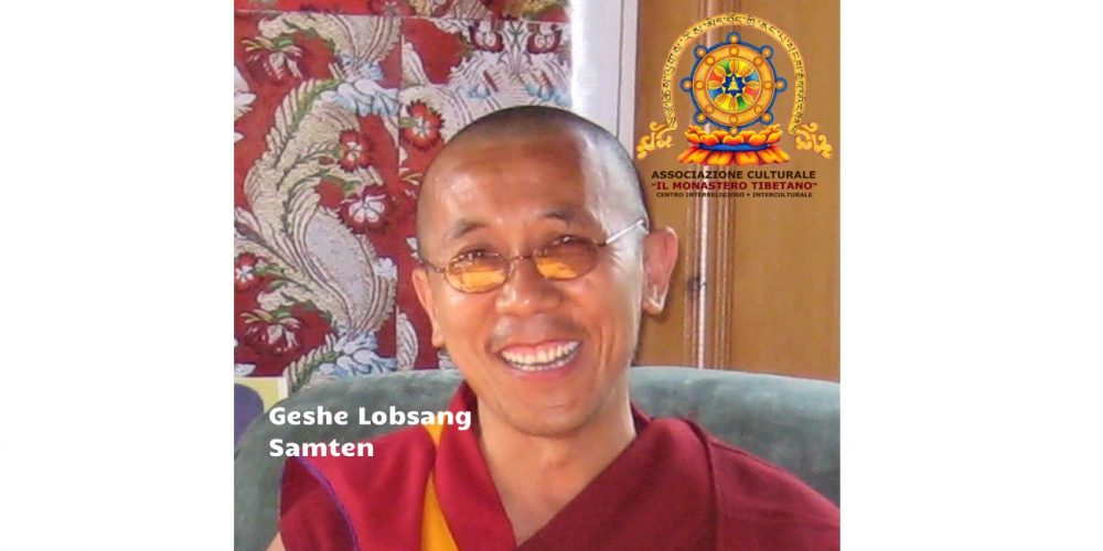 "Ospite d'onore del Monastero Tibetano ""Lama Geshe Lobsang Samten"""