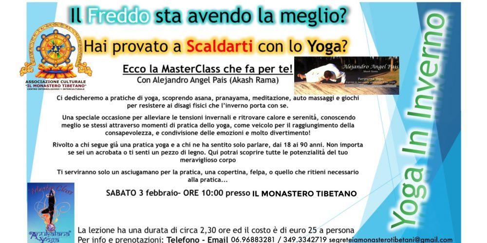 """MASTERCLASS – """"Yoga In Inverno"""" Condotto dall'Insegnante Alejandro Angel Pais"""