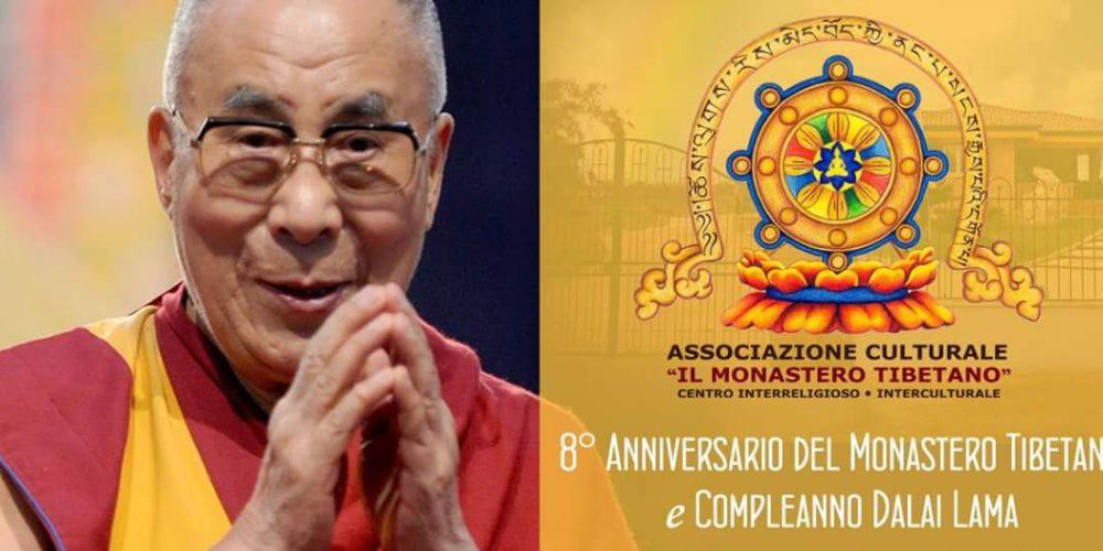 Festa di Anniversario del Monastero e Festa di Compleanno S.S. Il XIV Dalai Lama
