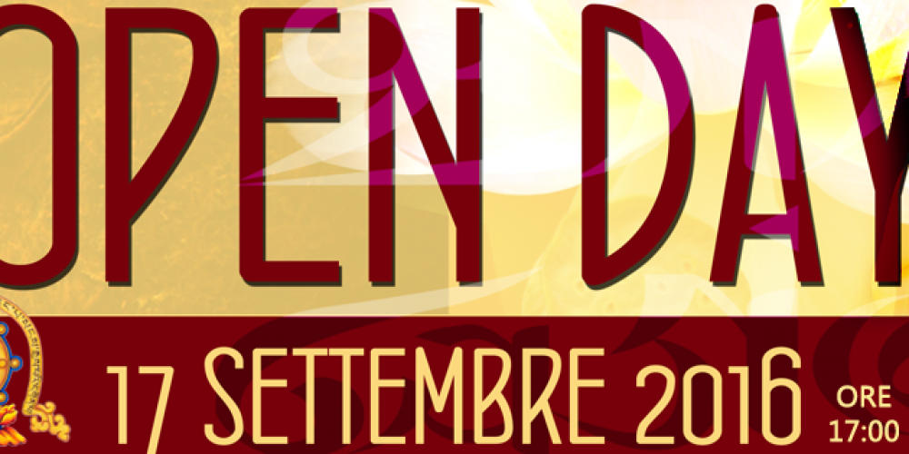 Open Day – 17 Settembre 2016