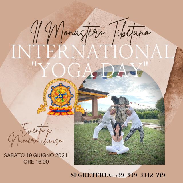 """INTERNATIONAL """"YOGA DAY"""" Giornata Internazionale dello Yoga"""