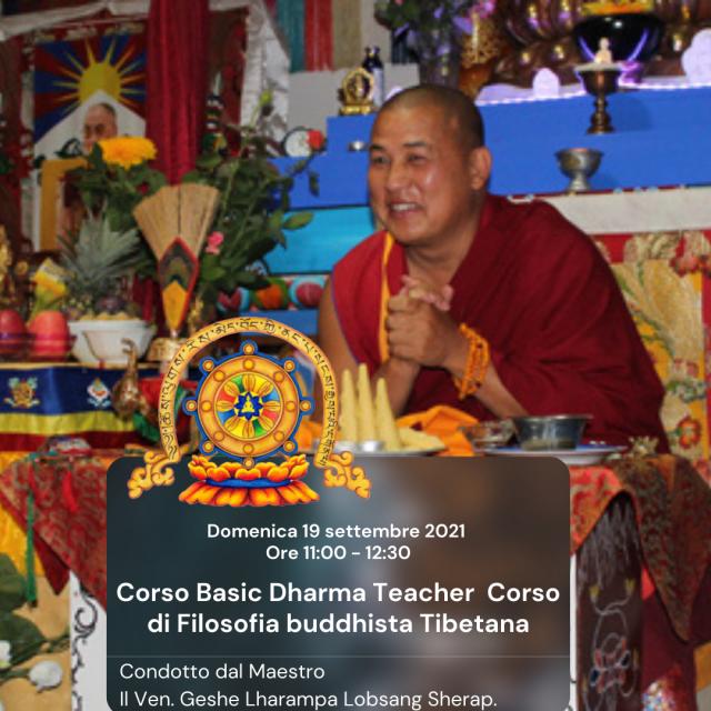 Corso Basic Dharma Teacher, Corso di Filosofia Buddhista Tibetana