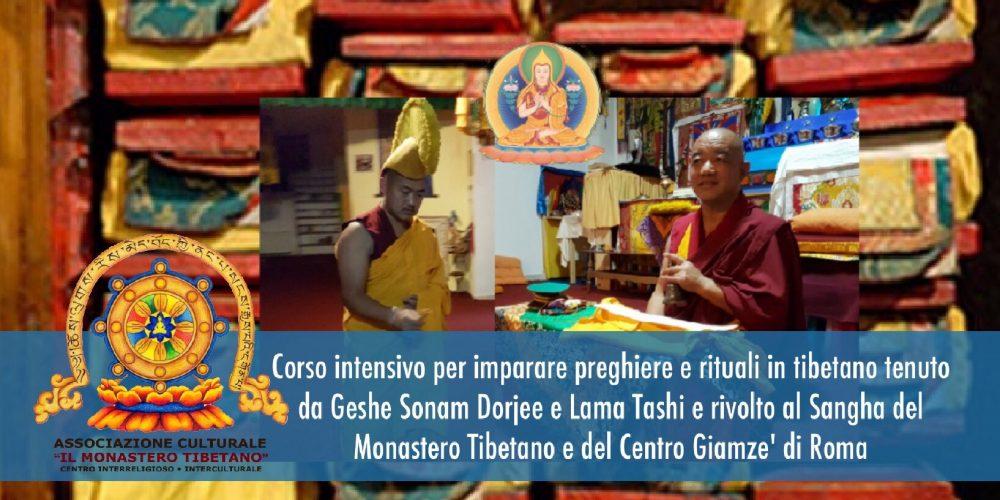 Corso Intensivo Per Imparare Preghiere e Rituali in Tibetano