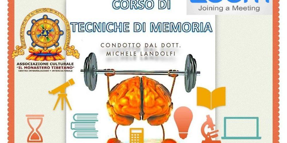 Corso AVANZATO di MNEMOTECNICA, LA TECNICA PER LA MEMORIZZAZIONE VELOCE Condotto dal Dott. Michele Landolfi