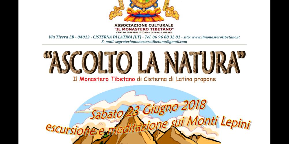 """ASCOLTO LA NATURA """"Escursione e Meditazione sui Monti Lepini"""""""